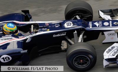 Bruno Senna in Williams cocpit
