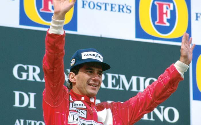 Ayrton Senna in Imola in 1991