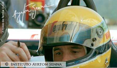 Ayrton Senna in his Toleman 1984