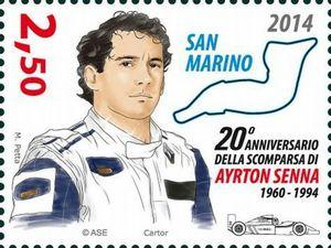 Senna Imola stamp