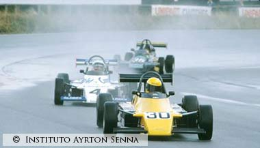 Senna in action,Formula Ford 2000