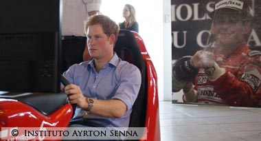 Prince Harry visits Ayrton Senna Foundation