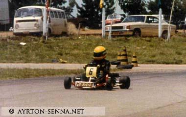 Ayrton Senna-Karting
