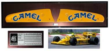 Senna's Lotus plate