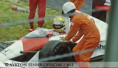 Ayrton Senna at Suzuka in 1989