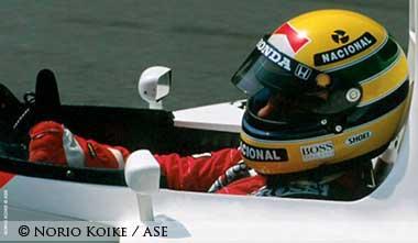 Senna in McLaren cocpit
