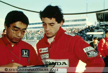 Ayrton Senna in Japan in 1990