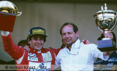 Ayrton Senna and Ron Dennis at Monte Carlo 1993