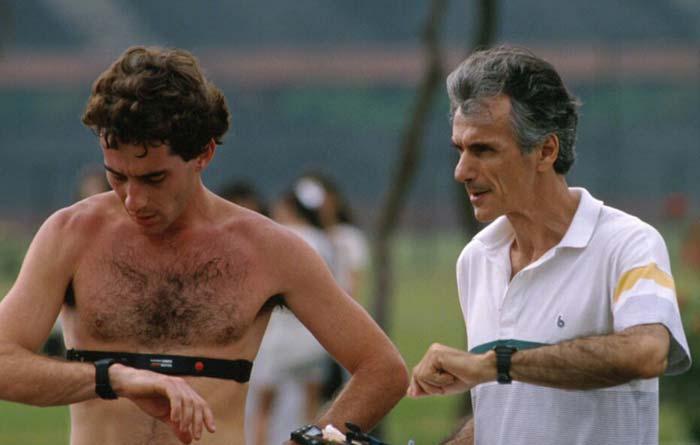 Ayrton Senna in hard training