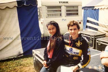 Ayrton Senna wit his fan