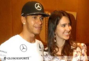 Lewis Hamilton and Paula Senna, Brazil 2014