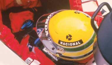 Senna's yellow helmet