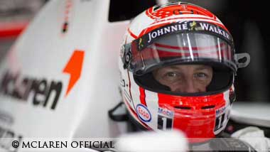 Jenson Button in Sennas mclaren