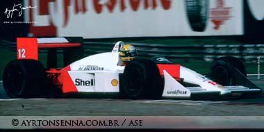 Ayrton Senna, Mozna 1991