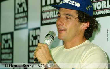 Ayrton Senna Press Conf. Hungaroring 1991