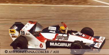 Ayrton Senna in his Toleman in 1994