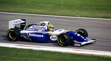 Ayrton Senna in his Williams in 1994