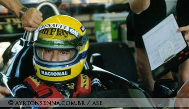 Ayrton Senna in Brazil in 1985