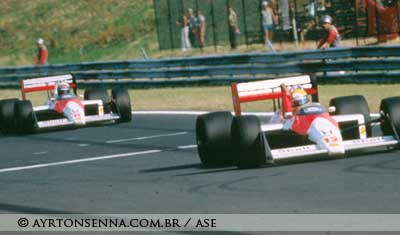 Ayrton Senna in Hungaroring 1988