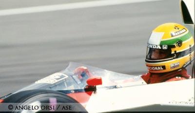 Ayrton Senna in Silverstone in 1989