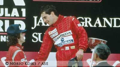 Ayrton Senna in Suzuka 1988