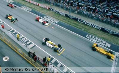 Ayrton Senna at Imola 1987