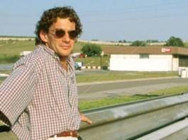 Ayrton Senna in Hungaroring in 1993