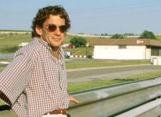 Ayrton Senna in Hungaroring in 1993