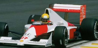 Ayrton Senna at Interlagos