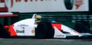 Ayrton Senna at Suzuka podium