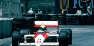 Ayrton Senna in Detroit in 1988