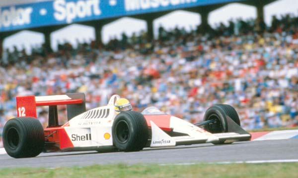 Ayrton Senna in Hockenheim 1988