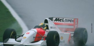 Ayrton Senna in Donington 93