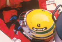 Ayrton Senna in his cocpit 1988