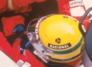 Ayrton Senna in his cocpit 1988