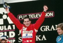 Ayrton Senna at Japanese Grand Prix