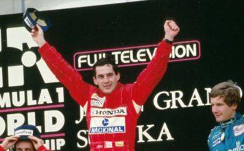 Ayrton Senna at Japanese Grand Prix