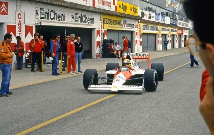 Ayrton Senna in Imola in 1989