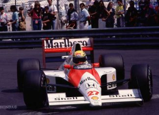 Ayrton Senna in Monaco 1990
