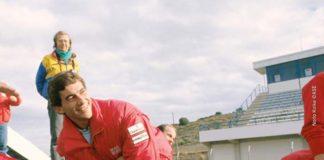 Ayrton Senna in Spain in 1989