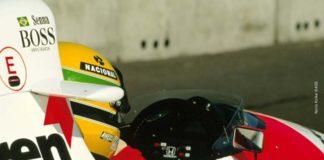 Ayrton Senna in cocpit
