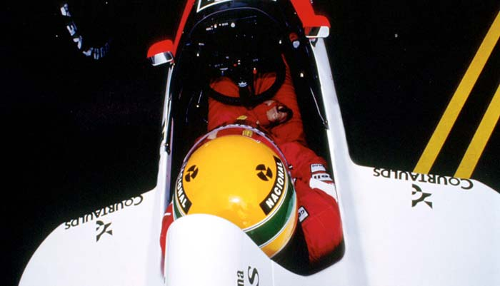 Ayrton Senna in Spa Francorchamps 1989