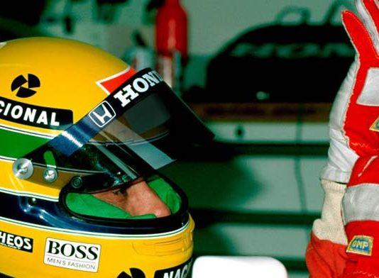 Ayrton Senna in his McLaren cocpit in 1990