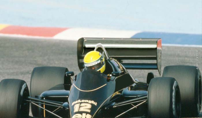 Ayrton Senna  in Paul Ricard 1986