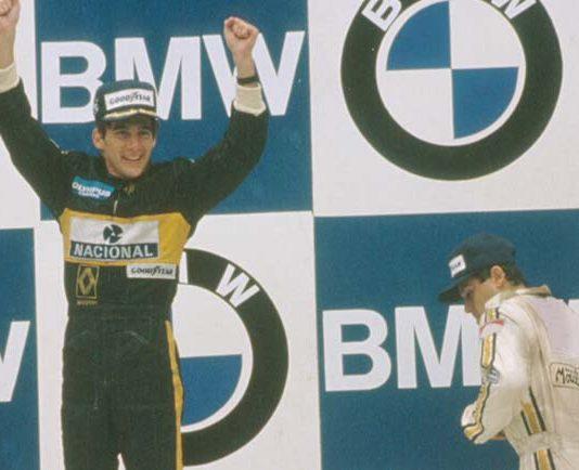 Ayrton Senna in Portugal in 1985