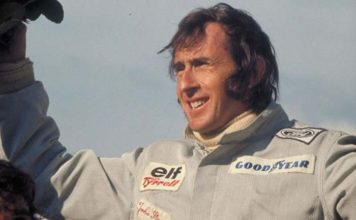 Jackie Stewart on podium