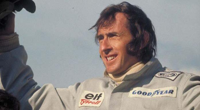 Jackie Stewart on podium