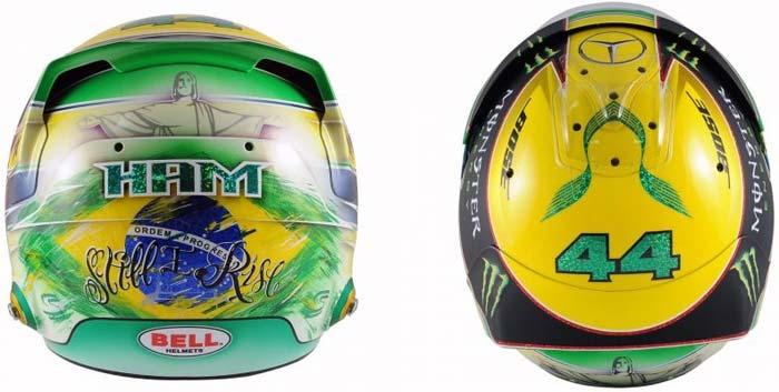 Lewis Hamilton helmet 2016