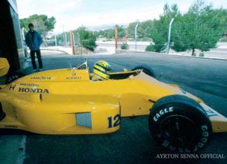 Ayrton Senna in France in 1987