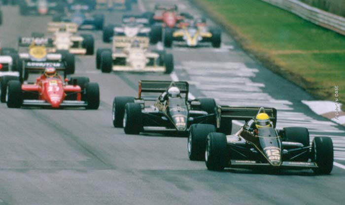 Ayrton Senna at Imola in 1985